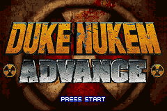 Duke Nukem Advance (E)(LightForce) Title Screen