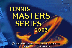 Tennis Masters Series 2003 (E)(Independent) Title Screen
