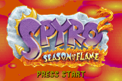 Spyro 2 - Season of Flame (U)(Venom) Title Screen