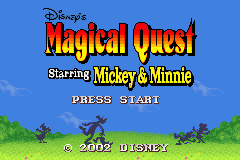 Disney's Magical Quest Starring Mickey and Minnie (E)(Patience) Title Screen