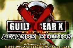 Guilty Gear X - Advance Edition (E)(Patience) Title Screen