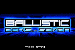 Ballistic - Ecks vs. Sever (U)(Venom) Title Screen