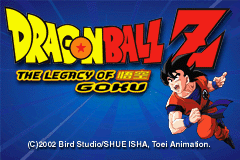 Dragon Ball Z - The Legacy of Goku (E)(Polla) Title Screen