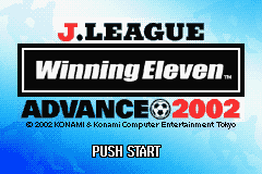 J-League Winning Eleven Advance 2002 (J)(Eurasia) Title Screen
