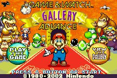 Game & Watch Gallery Advance (E)(Menace) Title Screen