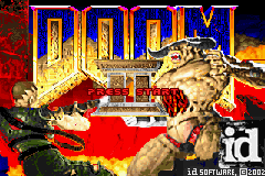 Doom II (U)(Mode7) Title Screen