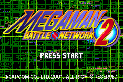 MegaMan Battle Network 2 (E)(Independent) Title Screen