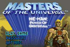 Masters of the Universe - He-Man - Power of Grayskull (U)(Venom) Title Screen