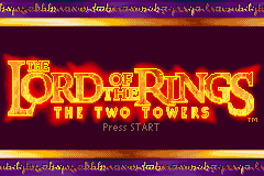 The Lord of the Rings - The Two Towers (U)(Mode7) Title Screen