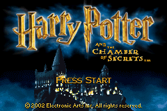 Harry Potter and the Chamber of Secrets (U)(Mode7) Title Screen