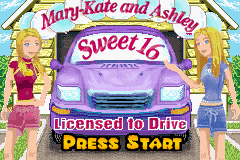 Mary-Kate and Ashley - Sweet 16 (U)(Patience) Title Screen