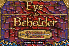 Dungeons and Dragons - Eye of the Beholder (E)(Patience) Title Screen