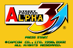 Street Fighter Alpha 3 (E)(Quartex) Title Screen