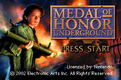 Medal of Honor - Underground (U)(Mode7) Title Screen