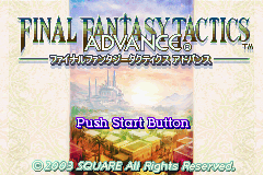 Final Fantasy Tactics Advance (J)(Eurasia) Title Screen