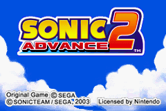 Sonic Advance 2 (U)(Independent) Title Screen