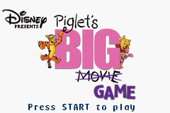 Disney's Piglet's Big Game (U)(Eurasia) Title Screen