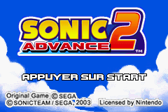 Sonic Advance 2 (E)(Patience) Title Screen