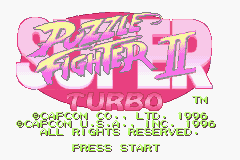 Super Puzzle Fighter II (E)(Mugs) Title Screen