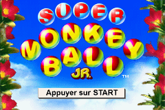 Super Monkey Ball Jr. (E)(Patience) Title Screen