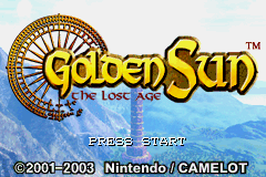 Golden Sun 2 - The Lost Age (U)(Megaroms) Title Screen
