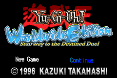 Yu-Gi-Oh! Worldwide Edition (E)(Eurasia) Title Screen