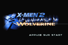 X-Men 2 - La vengeance de Wolverine (F)(Patience) Title Screen