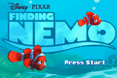 Finding Nemo (U)(Mode7) Title Screen