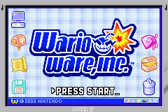 Wario Ware Inc (U)(Precision) Title Screen