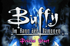 Buffy Im Bann Der Damonen (G)(Suxxors) Title Screen