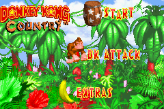 Donkey Kong Country (E)(Menace) Title Screen