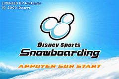 Disney Sports Snowboarding (E)(Patience) Title Screen