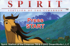 Spirit - Stallion Of The Cimarron (E)(BatMan) Title Screen