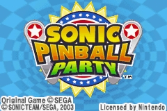 Sonic Pinball Party (U)(Venom) Title Screen