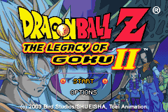 Dragon Ball Z - The Legacy of Goku II (U)(TrashMan) Title Screen