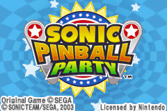 Sonic Pinball Party (J)(Rising Sun) Title Screen