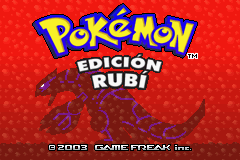 Pokemon Rubi (S)(Rising Sun) Title Screen