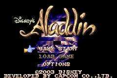 Disney's Aladdin (J)(Eurasia) Title Screen