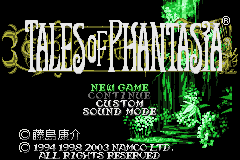 Tales of Phantasia (J)(Eurasia) Title Screen