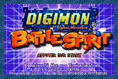 Digimon Battle Spirit (E)(Suxxors) Title Screen