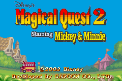 Disney's Magical Quest 2 Starring Mickey and Minnie (E)(Rising Sun) Title Screen