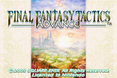Final Fantasy Tactics Advance (U)(Eurasia) Title Screen