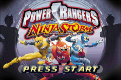 Power Rangers - Ninja Storm (U)(Mode7) Title Screen