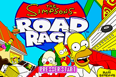 The Simpson's Road Rage (E)(Suxxors) Title Screen