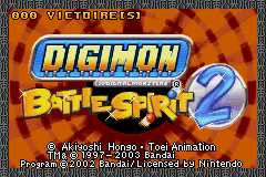 Digimon Battle Spirit 2 (U)(Rising Sun) Title Screen