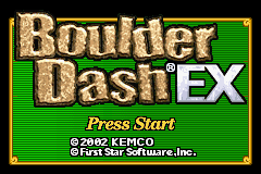 Boulder Dash EX (E)(Patience) Title Screen