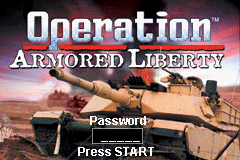 Operation Armored Liberty (U)(Rising Sun) Title Screen