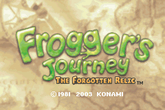 Frogger's Journey - The Forgotten Relic (U)(Mode7) Title Screen