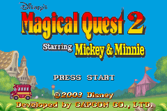 Disney's Magical Quest 2 Starring Mickey and Minnie (U)(Evasion) Title Screen