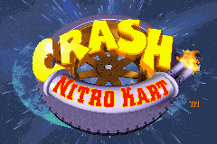 Crash Nitro Kart (U)(Venom) Title Screen